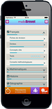 mobiBrevet sur iPhone